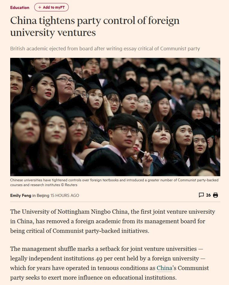 UK universities doing deals in Middle East (remember Egypt story from last  week ), in China. What happens to academic freedom  ff265ce3f12