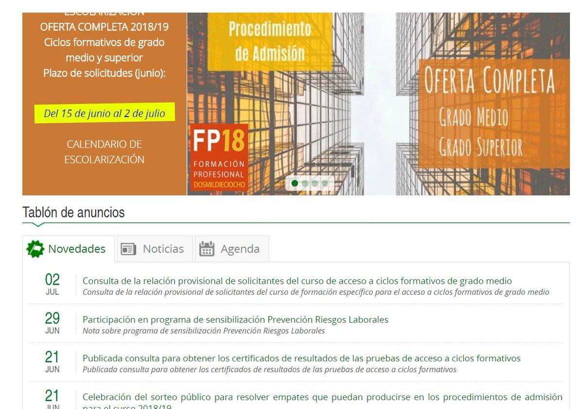 Fp Grado Medio Junta De Andalucia Pruebas De Acceso A