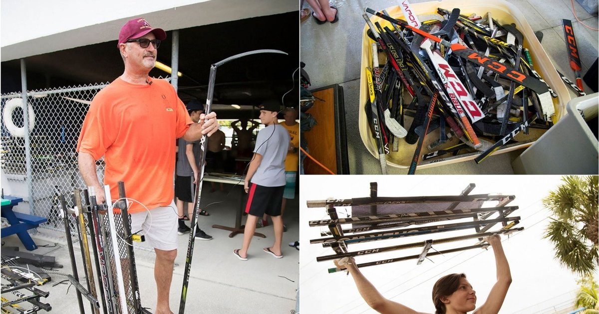 Broken hockey sticks from Florida Gulf Coast University becoming oyster hotels https://t.co/mueR4v2euu