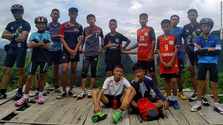 JUST IN: 12 teenage boys trapped with their soccer coach in caves for nine days in northern Thailand have been found alive, Thai official says https://t.co/8X9fnjg15u