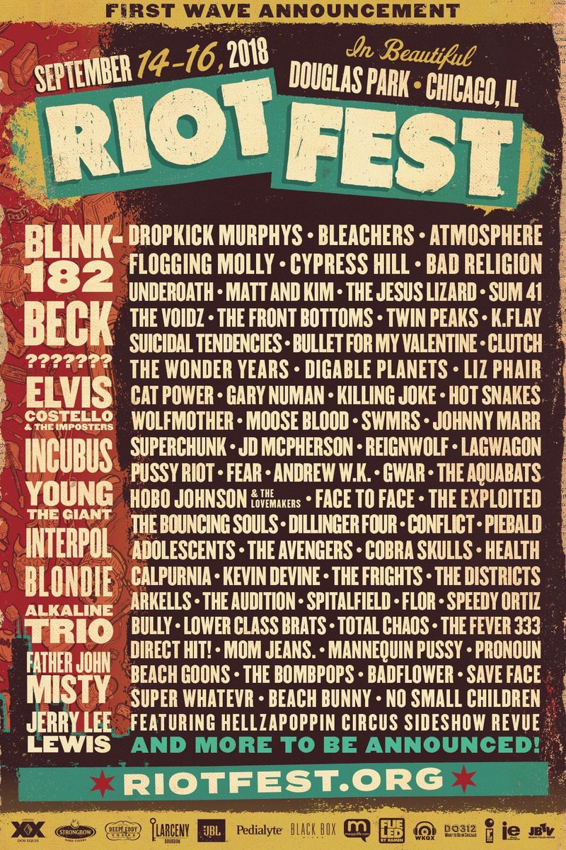 Riot Fest On Twitter Would You Like To Win Riot Fest Tickets Rt
