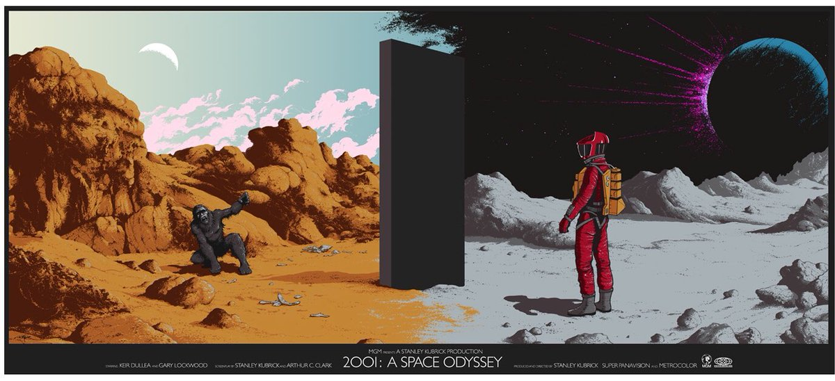 arik roper on twitter my 2001 a space odyssey print for private commission group 23 75 x 36 the relative dimensions of the monolith and 13 colors printed by the great burlesque of arik roper on twitter my 2001 a