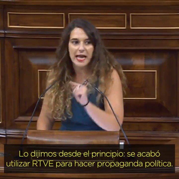 'Se acabó utilizar RTVE para hacer propaganda política'. 👏👏👏👏 @VeraNoelia #STOPcacicadaRTVE