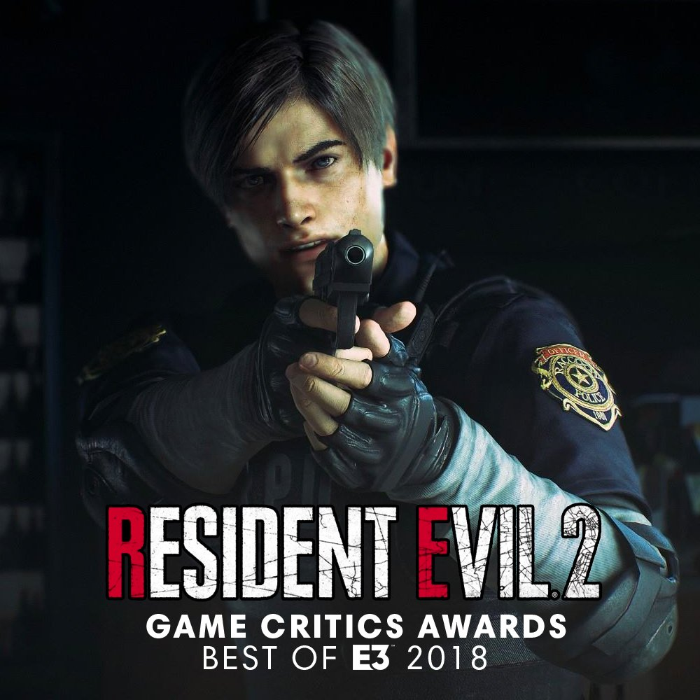 Resident Evil 2 wins Best of Show from the Game Critics Awards: Best of E3 2018. Full winner list here: gamecriticsawards.com/winners.html