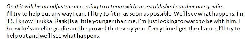 New #NHLBruins goalie Jaroslav Halak's thoughts on being Tuukka Rask's backup: https://t.co/sCb5qil156