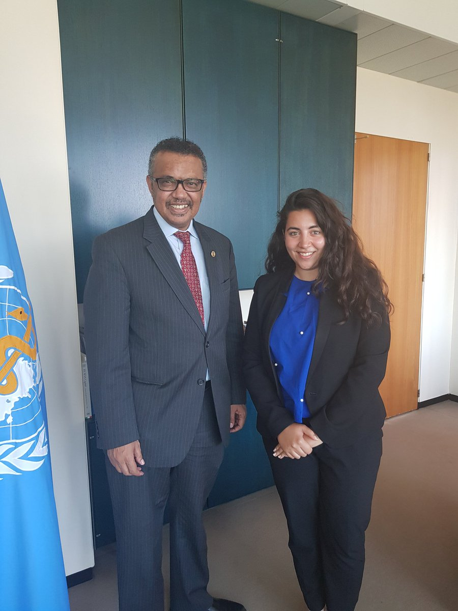 Thank you @DrTedros and @WHO for making this Internship so memorable and for supporting me and the other interns to achieve such historic milestones!