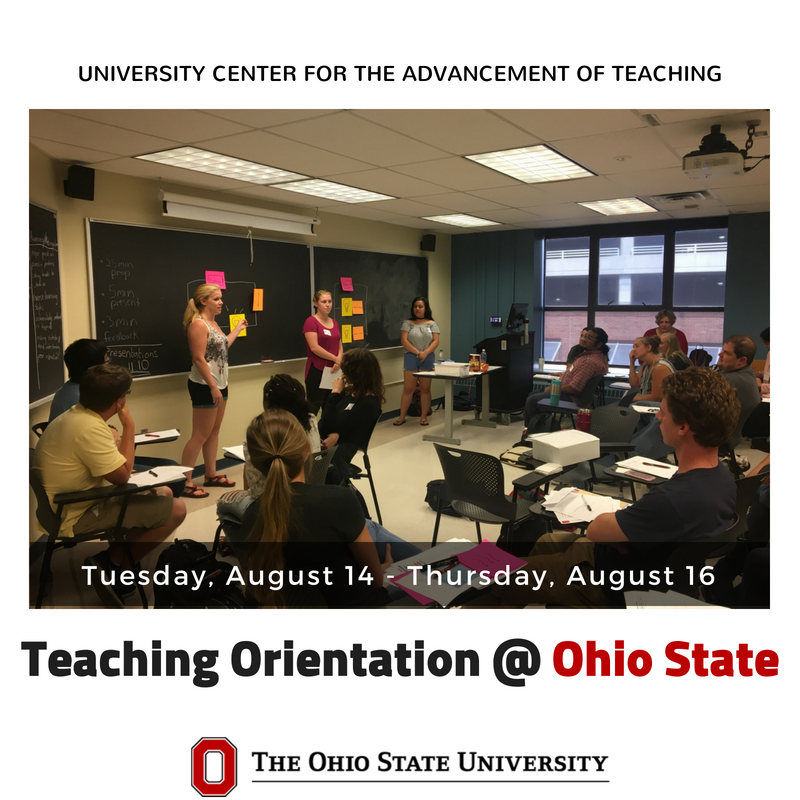 """""""I felt like I was able to calm some fears about teaching. It also sparked some new ideas for my own teaching! Additionally, I was able to connect with a new student in my department."""" -UCAT Orientation Facilitator  https://t.co/0fNiZKB0Bu"""