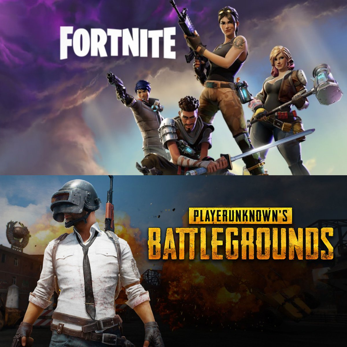 Which game is for you? #BattleRoyale   #Fortnite #PUBG #FullSail