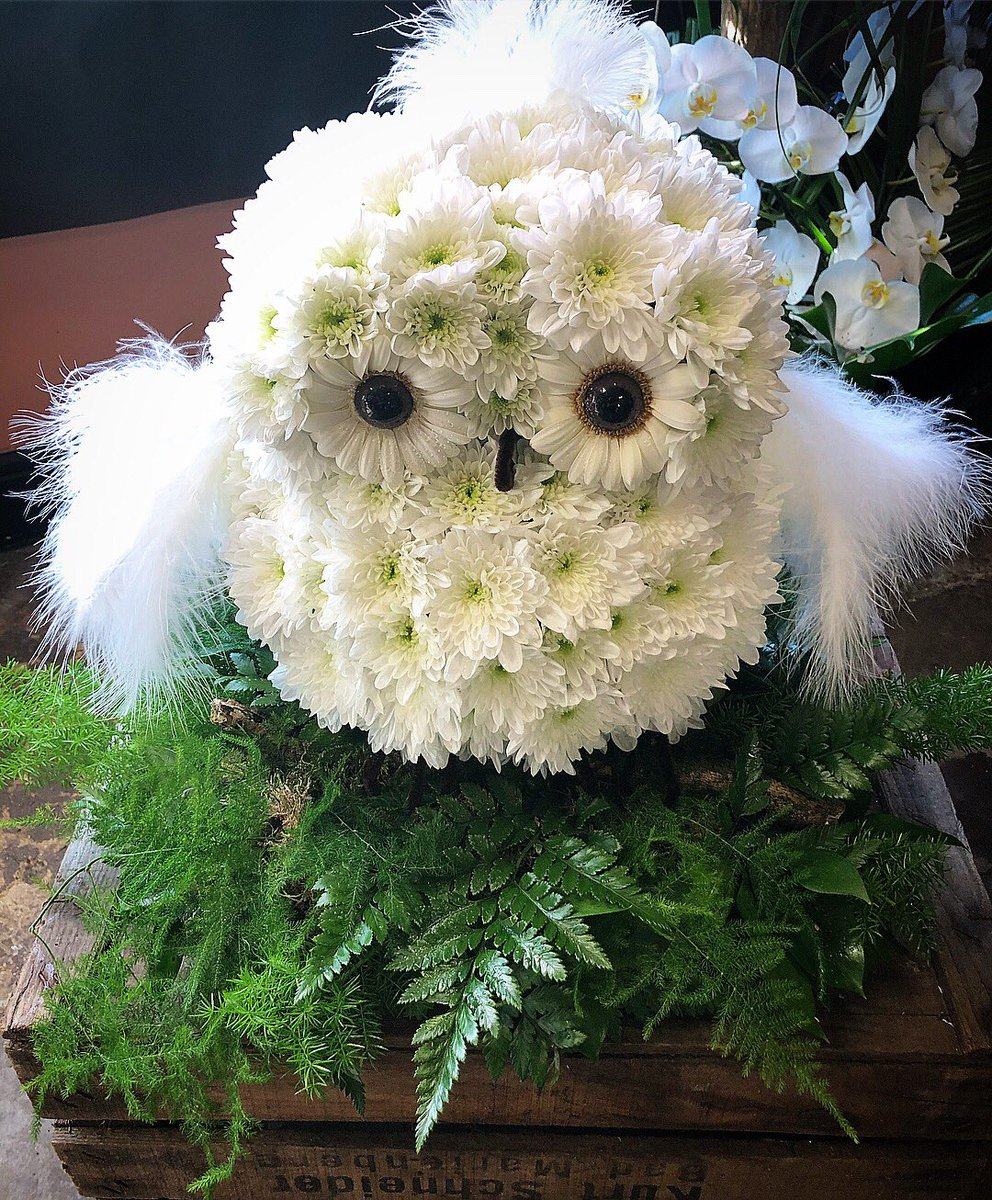 Flower couture on twitter bespoke farewell flowers from today flower couture on twitter bespoke farewell flowers from today flower owl gates of heaven decorated squash racket disney inspired mickey mouse izmirmasajfo