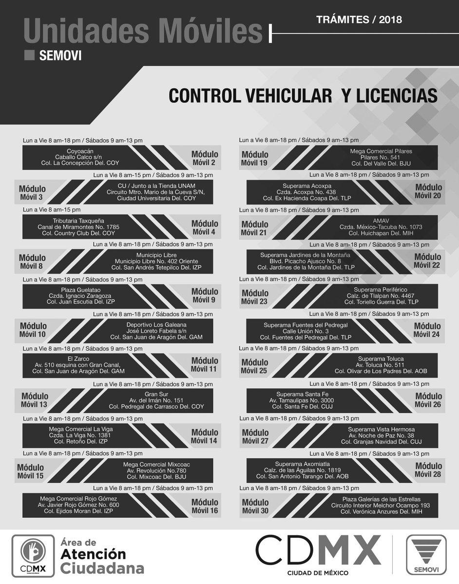 Secretaría De Movilidad Cdmx в Twitter Horarios Y