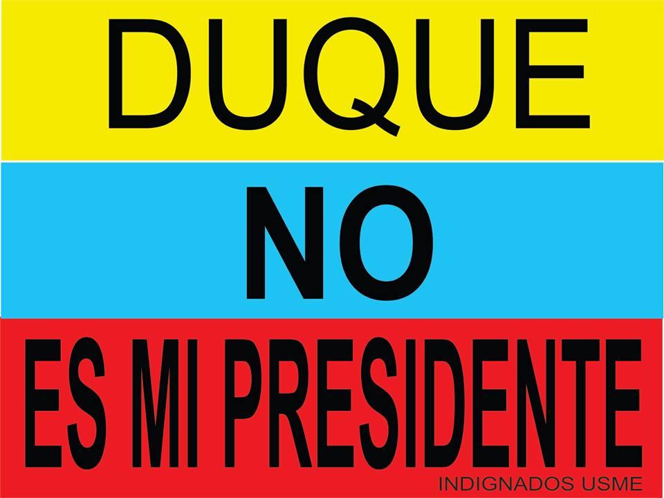 No es mi presidente