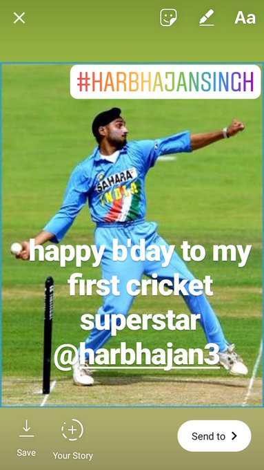 happy birthday sir.ur my first cricket superstar..love u.