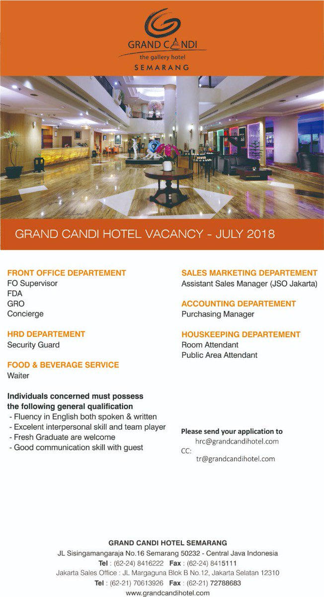 Grand Candi Hotel On Twitter Working At Grand Candi Hotel Isn T Just A Job It Provides An Opportunity To Build A Career For Life With Maximum Potentials So Are You The One That