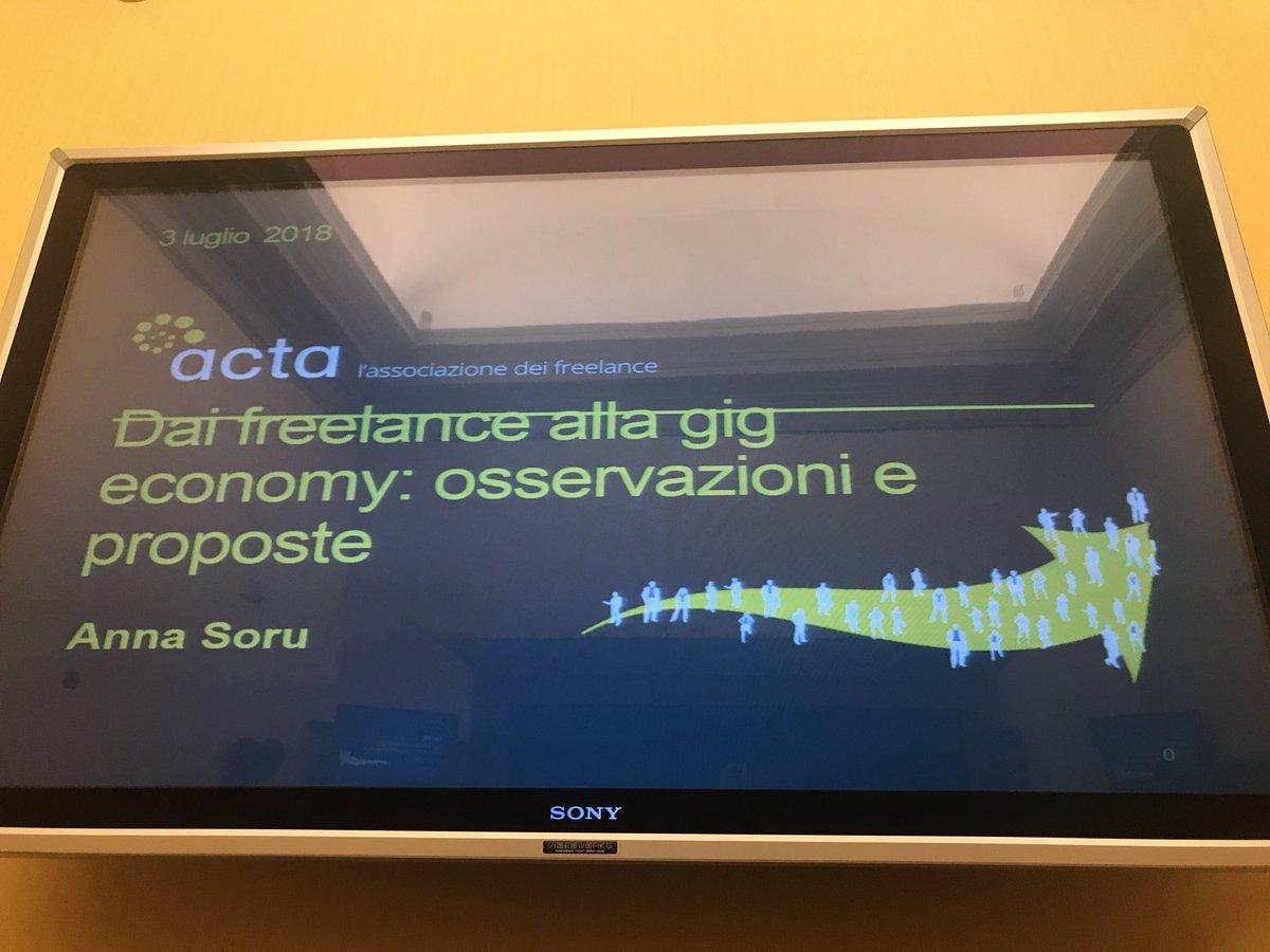 Oggi @annasoru ci parla della ricerca I-Wire: dai #freelance alla #gigeconomy