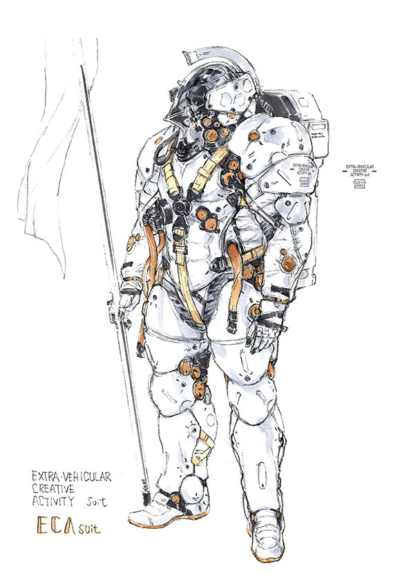 #DSStories 26 Over 20 years ago, Kojima had discussed with Shinkawa the idea of an astronaut exploring a digital space, and Shinkawa remembered this. Ludens wasn't just an idea of the moment, but rather an idea that had lived with them for a long time.