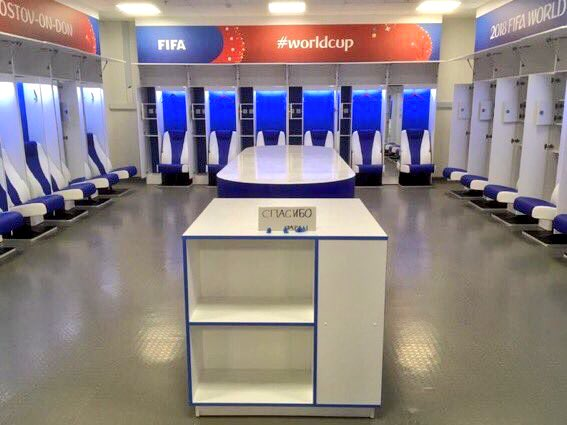 "😔 Lost 3-2 in the 90th minute to Belgium.  🗑 Cleaned the dressing room, left the floor spotless....  🇷🇺....and left a ""Thank You"" note in Russian.  👏 Pure class from Japan. 🇯🇵"