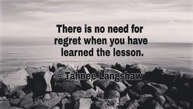 ***** Quote of the Day ***** Regret only stays with those who don't learn the lesson. - Tahnee Langshaw  #livewithnoregrets #learnthelesson #moveon #letitgo #letgooftheburden #freedom #quotes #quoteoftheday #quotesforsuccess #appreciationquotes #successq…  https:// ift.tt/2KqxI1D     <br>http://pic.twitter.com/1TBgVxeLne