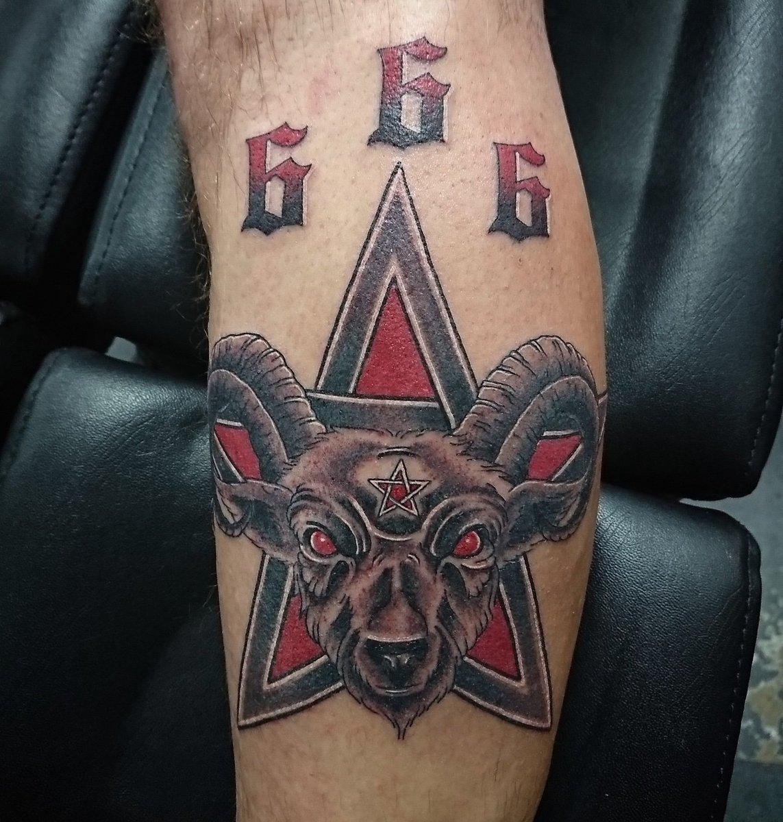 Sammy Kent On Twitter Ram Pentagram Tattoo I Did Today
