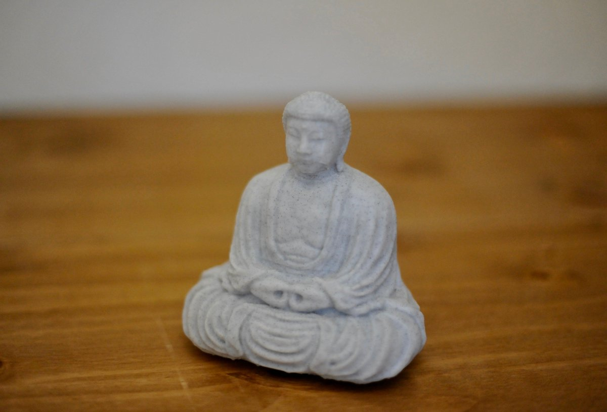 Another print in the Ziro marble filament, this time The Great Budha from @MyMin...