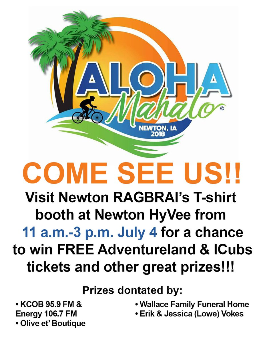 Newton Ragbrai On Twitter Come One Come All Just Come And See Us