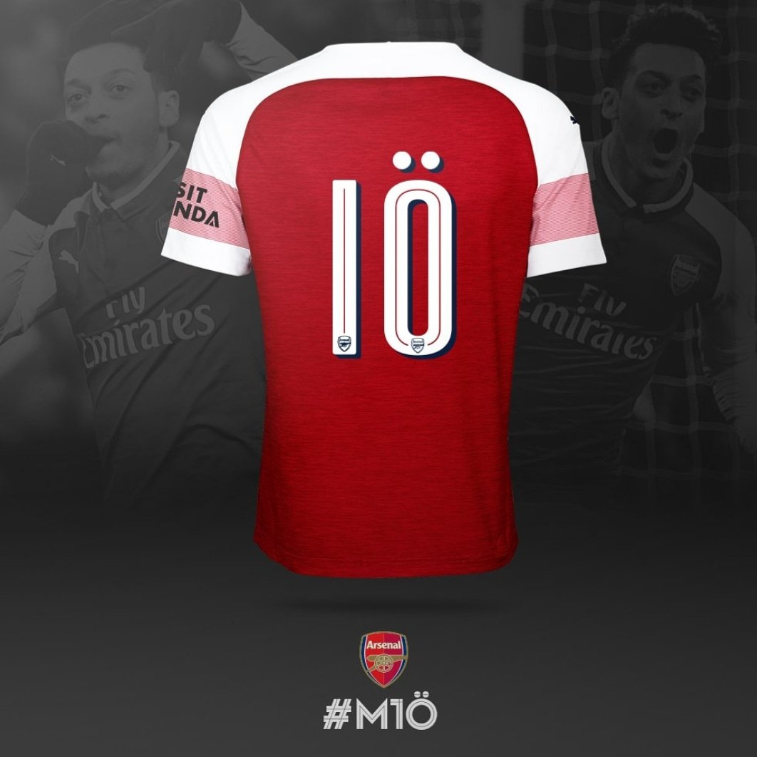 🔟 – It's more than just a number. Means a lot to me wearing it next season! Thanks, @arsenal 🙏🏼〽 #YaGunnersYa #M1Ö