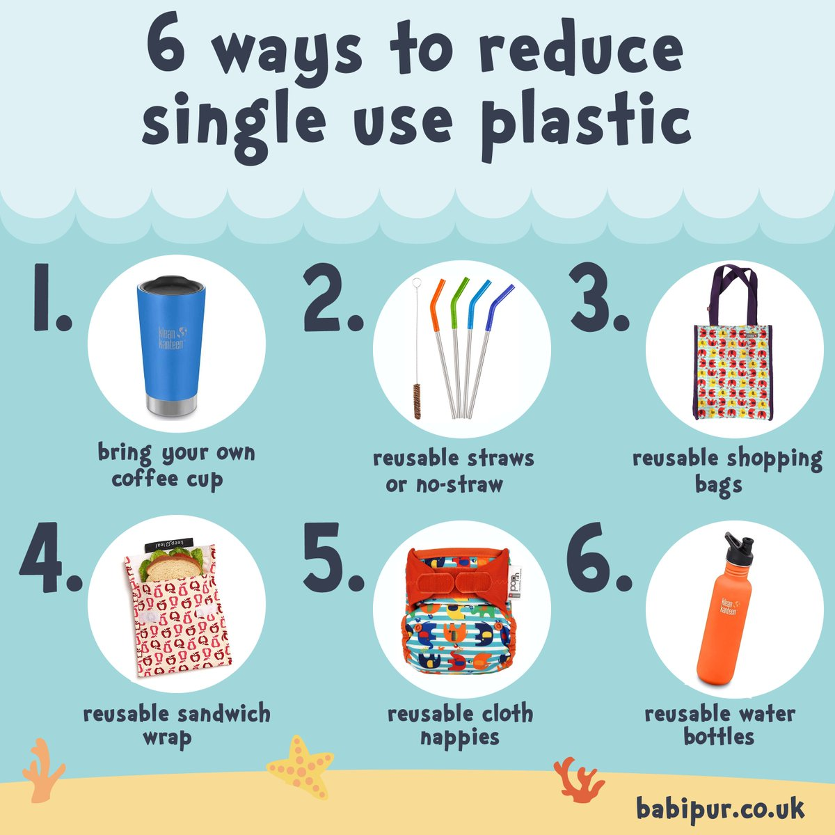 Six Ways To Reduce Singleuseplastic Waste This Plasticfreejuly With Easy Zerowaste Swaps From Babipur Https Www Co Uk Eco Living Home Html