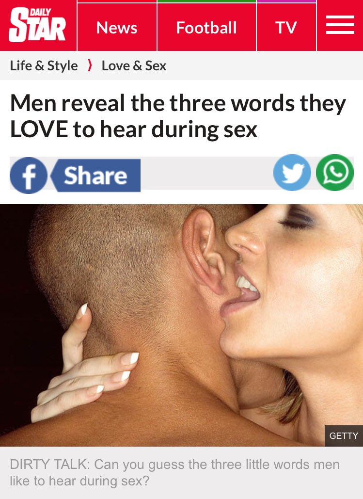 what do guys like to hear during sex