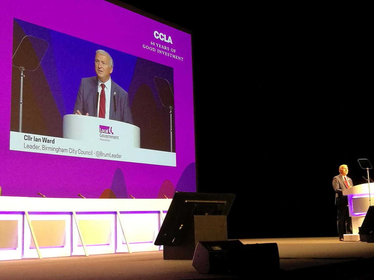 Cllr Ian Ward delivering LGA Conference welcome speech