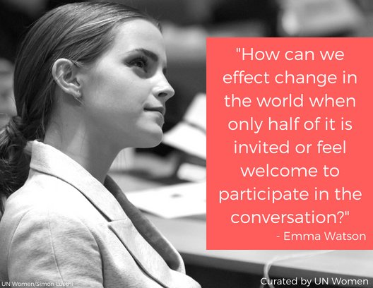 #TuesdayThoughts from @EmmaWatson, our Goodwill Ambassador: