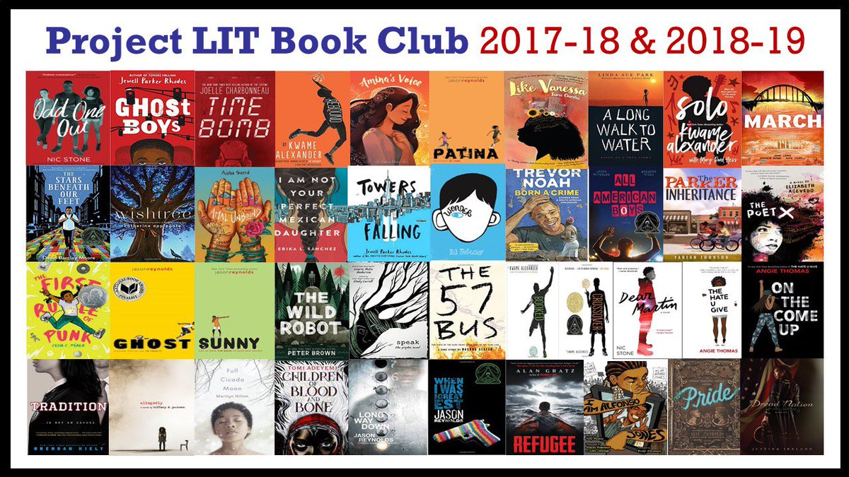 Project LIT Book Club 2017-18 & 2018-2019 Book Covers