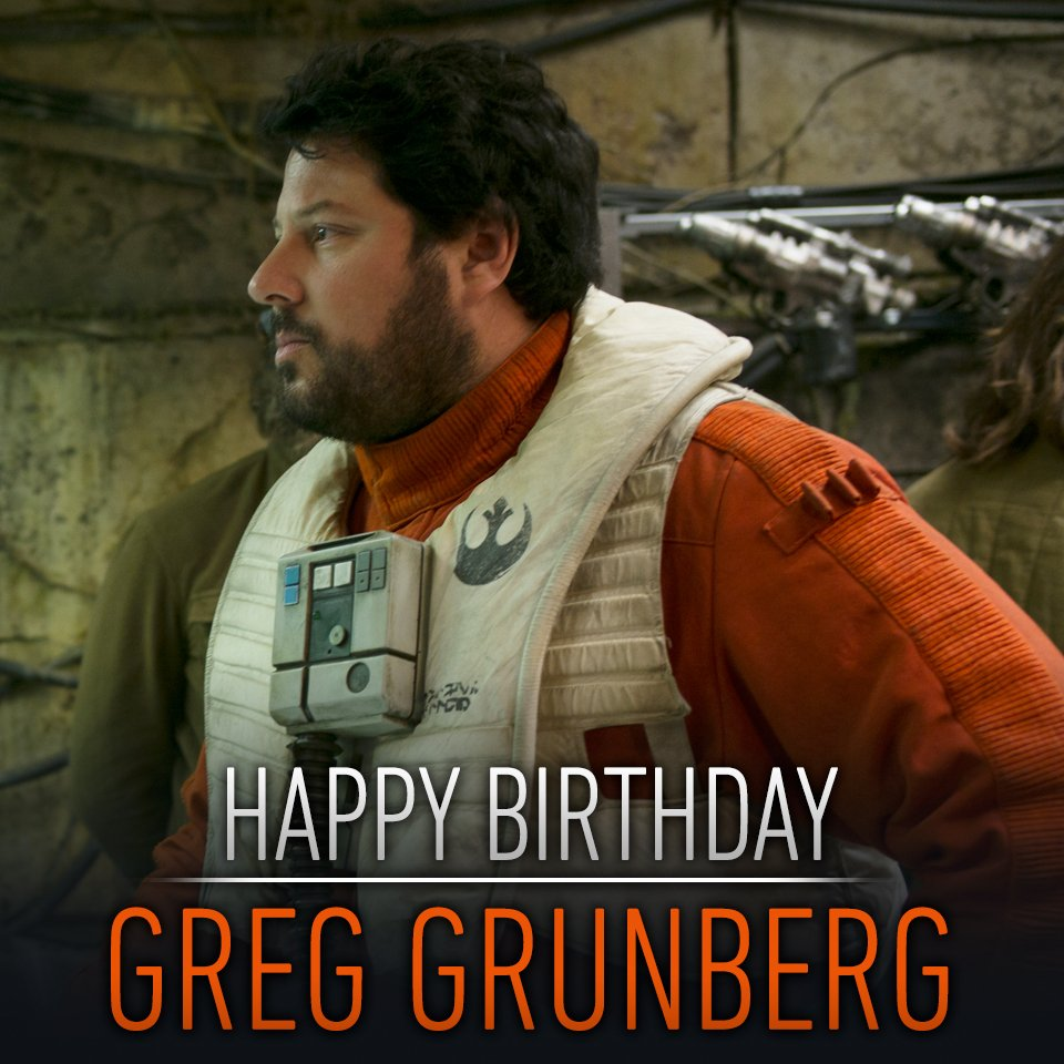 Happy birthday to the man behind ace X-wing pilot Snap Wesley, Mr. Greg Grunberg.