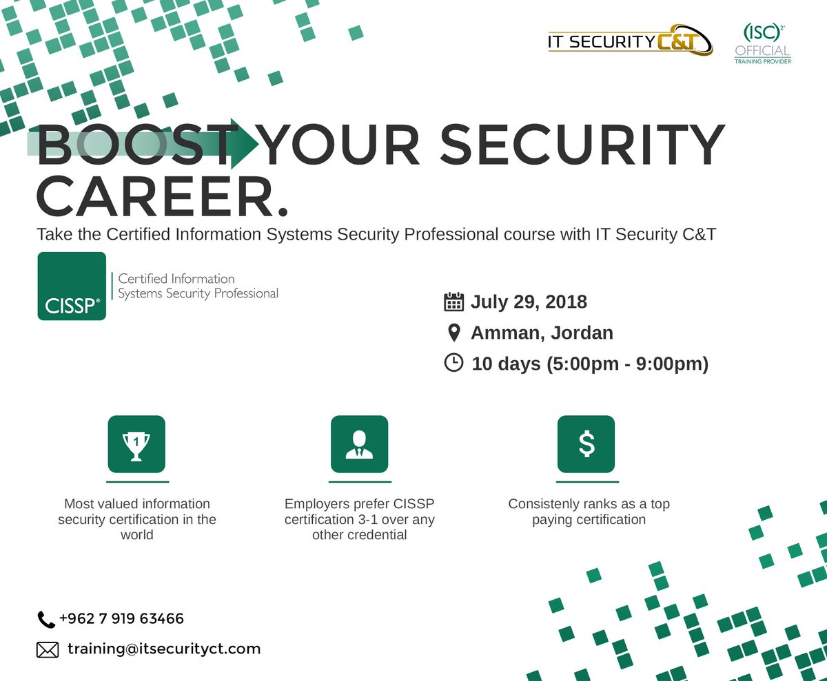 It Security Ct For More Information On The Upcoming
