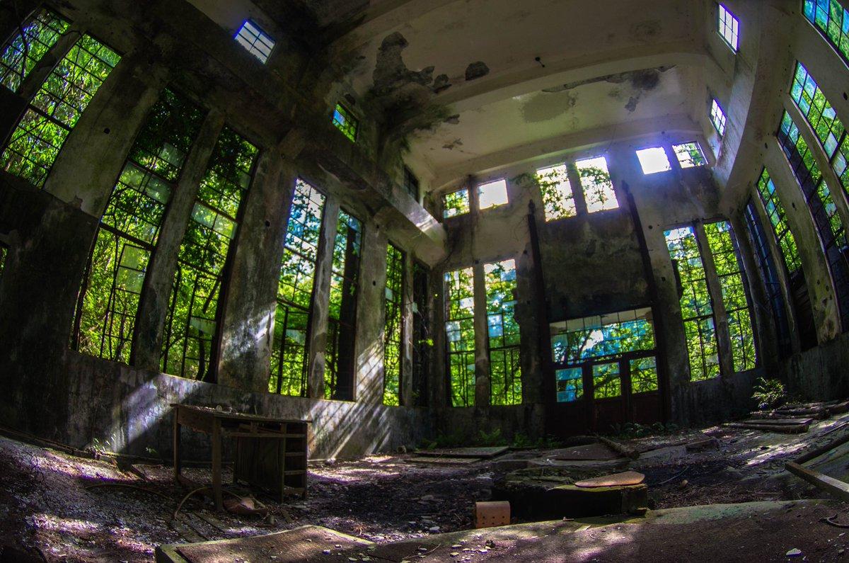 水力発電所② 緑あふれる発電所跡が人気みたいなので便乗して #廃墟 #発電所 #廃発電所