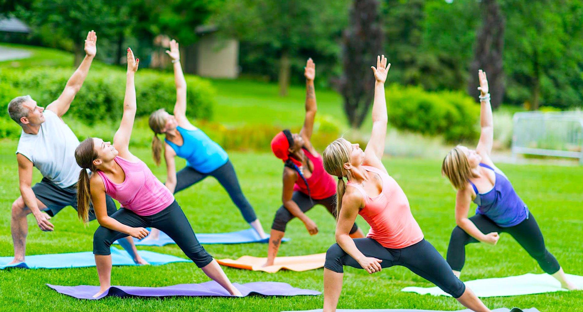 картинка фитнес на улице публикации