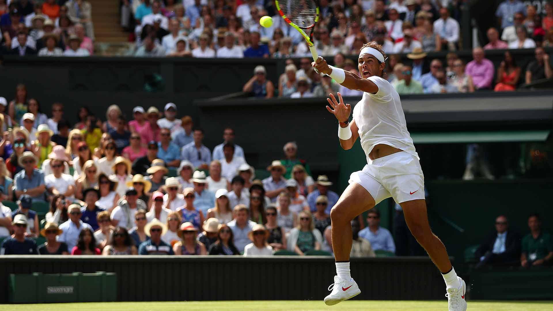 Rafa's Rout  2️⃣-time �� breezes past Sela 6-3, 6-3, 6-2 and improves to 44-10 at #Wimbledon. ���� ����  #ATP https://t.co/B0eUi7WqDx