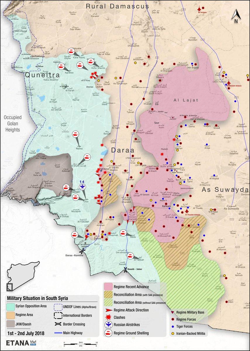 Сирийская сводка. Наступление в Дераа. 04.07.2018
