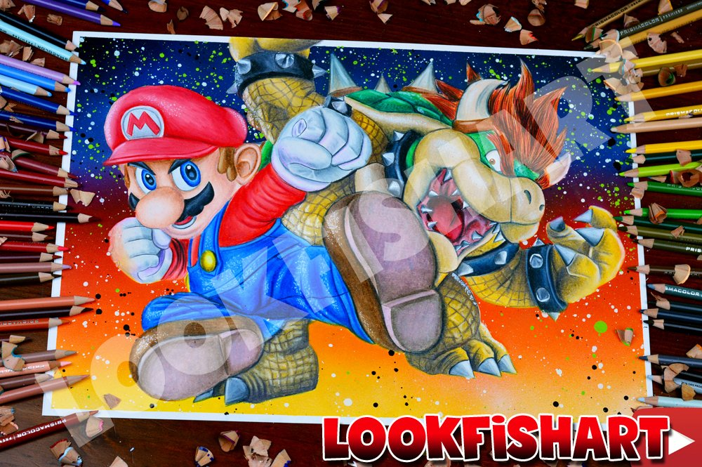 Lookfishart On Twitter Drawing Mario Vs Bowser Characters Supersmashbrosultimate From Nintendoswitch Nintendo