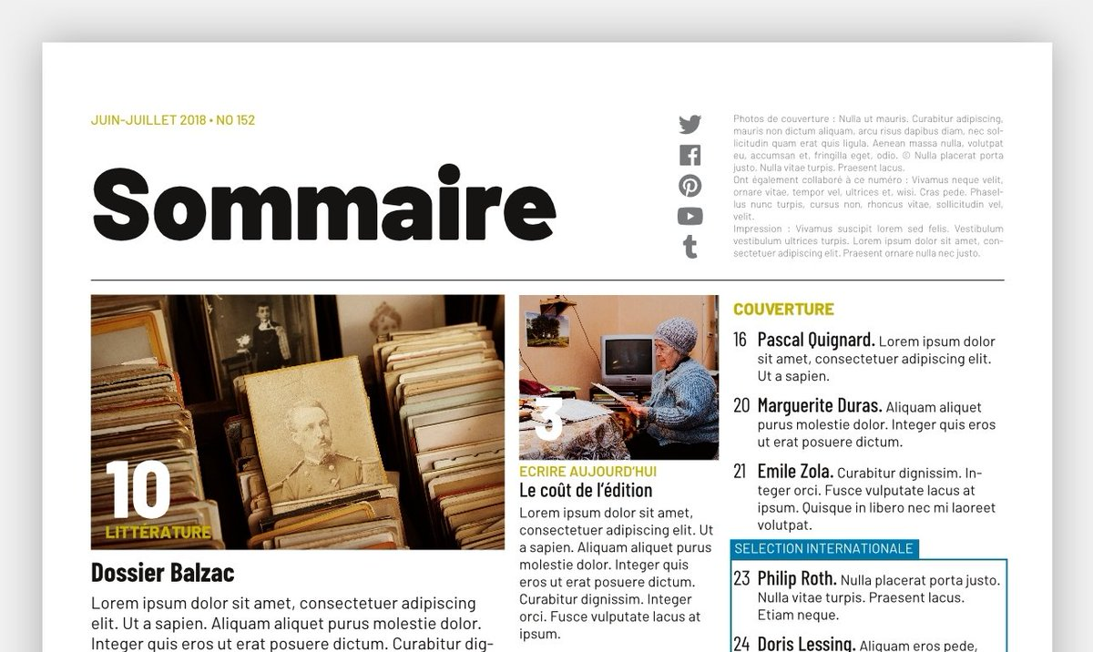Scribus Templates On Twitter Toc Is A 3 Column Magazine