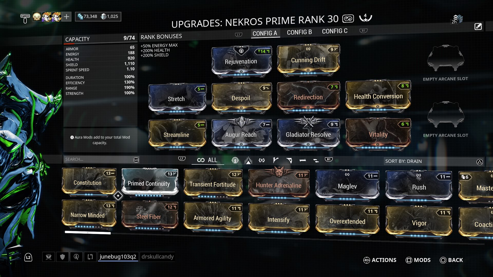 A tanky Nekros build to farm (mod combos build) - General