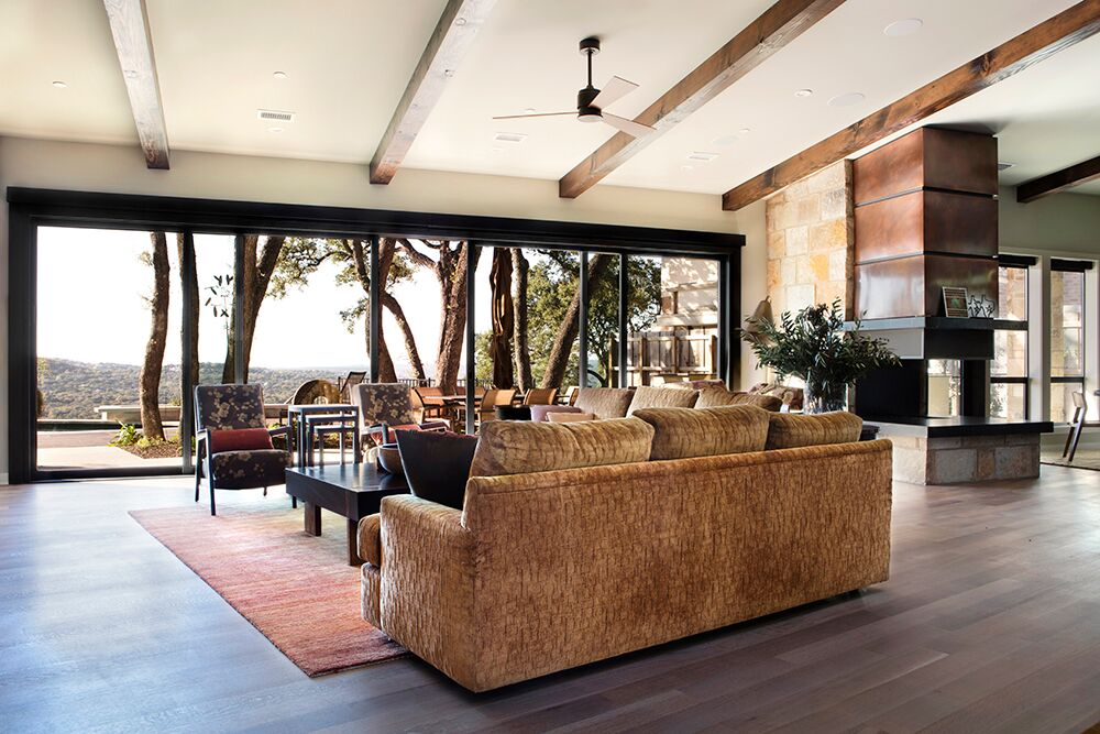 A modern home featuring LaCantina\u0027s Multi Slide Systems merges with nature in Texas. //bit.ly/2yCRiOI Project by Laura Britt Design. & LaCantina Doors (@LaCantinaDoors) | Twitter