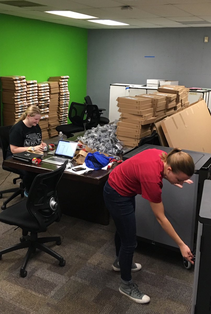 7 more chromebook carts for Fox High School #c6learns
