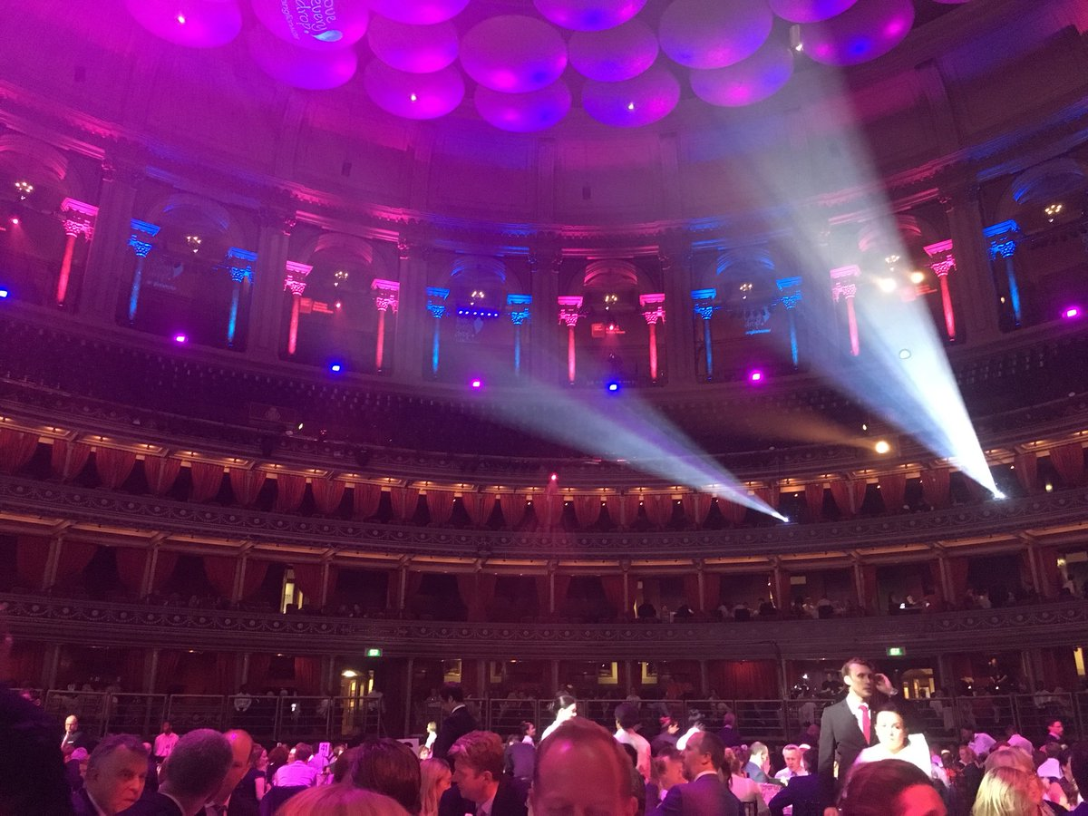 Fantastic night at #BITCAwards - great setting at Royal Albert Hall. Inspirational stories. Enjoying  updates on England game!