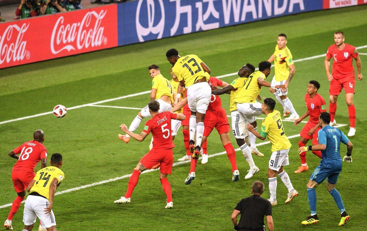 هدف كولومبيا القاتل في مرمى إنجلترا