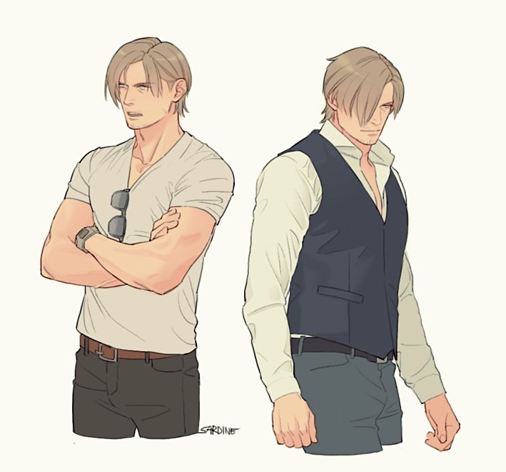 i truly prefer drawing RE6 Leon in my way😌