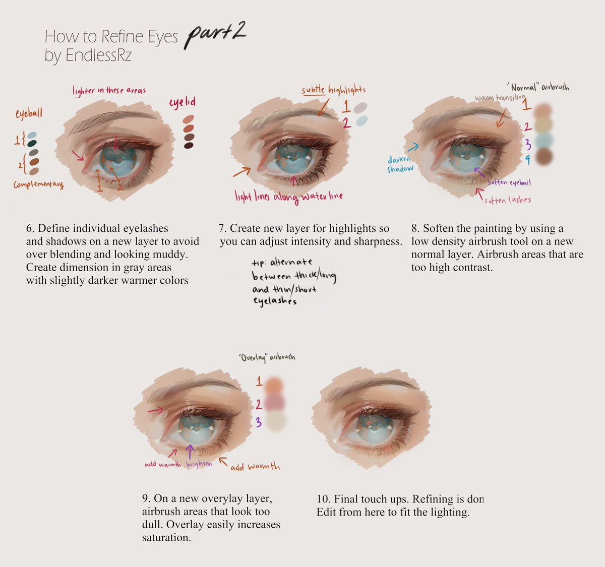 As promised, here's how I refine eyes step by step!