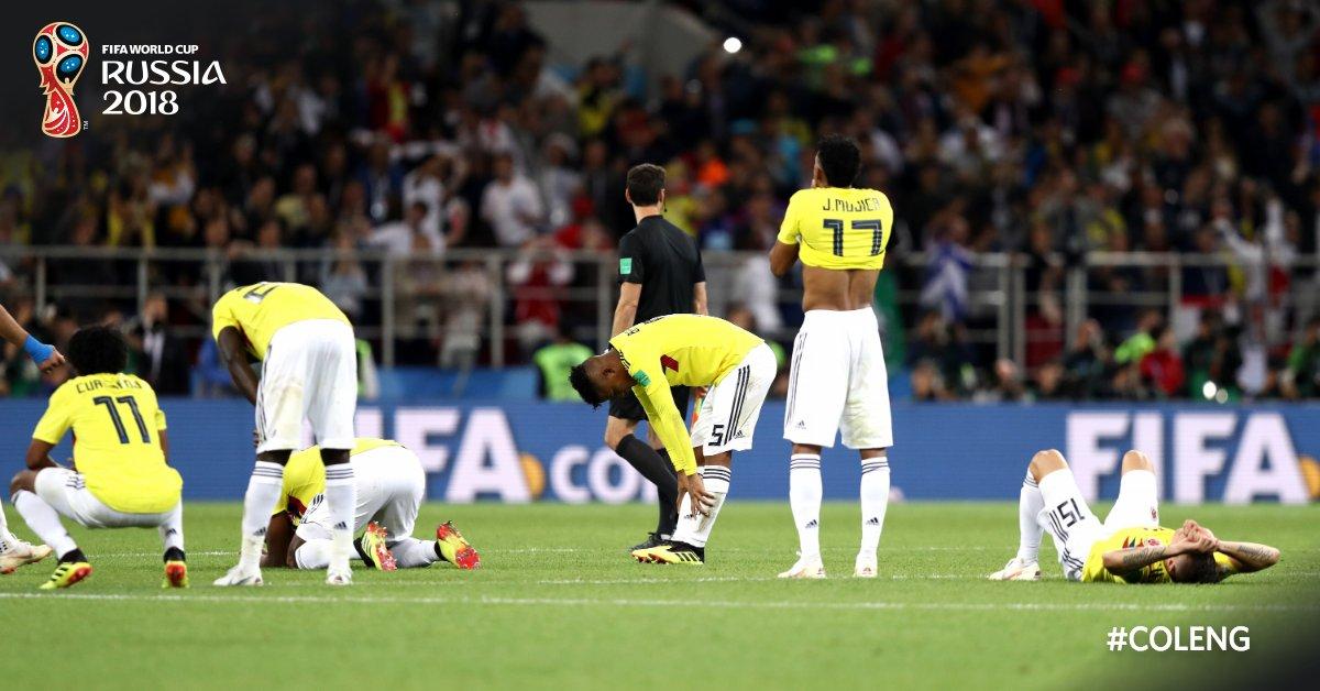 ❌ La Colombie est éliminée dès les 1/8 de finale de la #CM2018😥 #COL