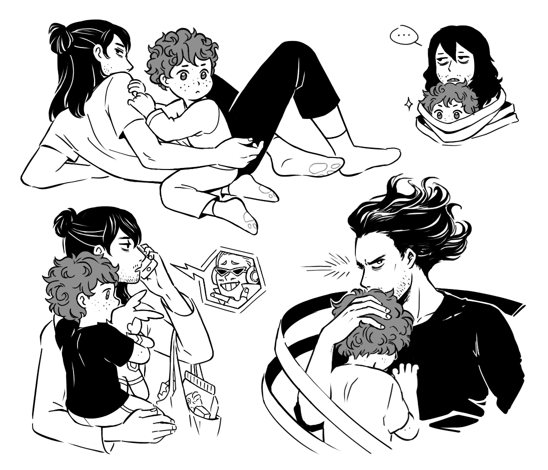 just thinkin about baby deku with his mom and three dads... #bnha