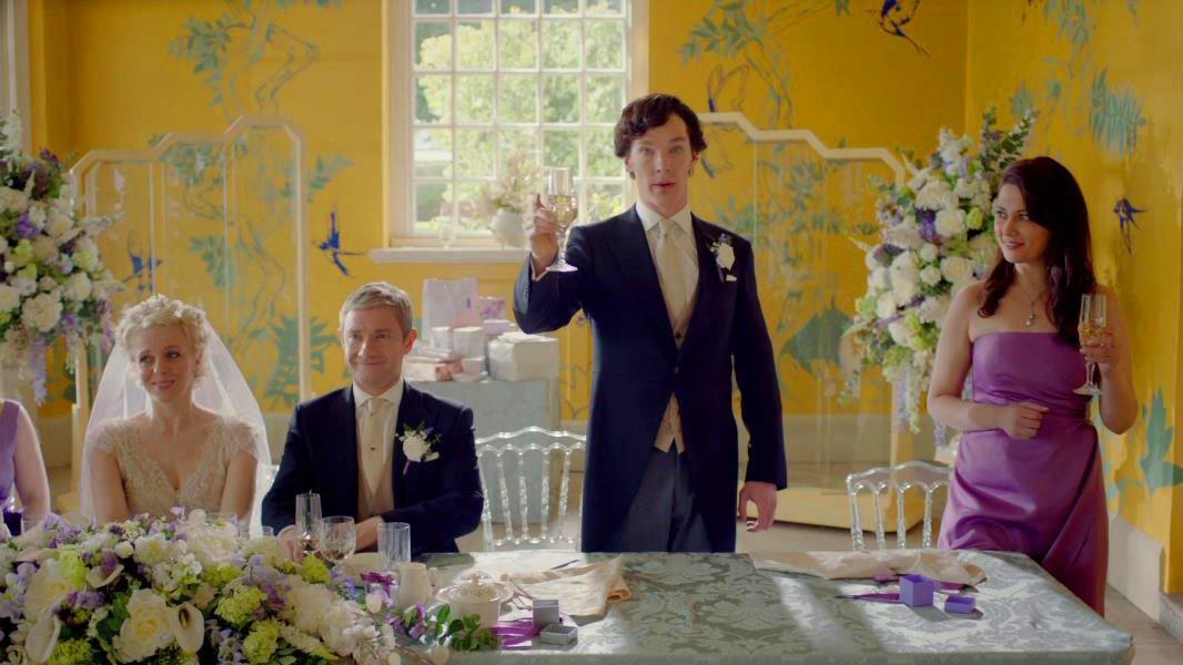 поздравление шерлока на свадьбе у ватсона сервировочного блюда можно
