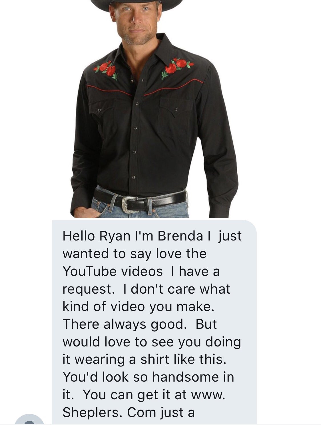 This is the greatest dm I have ever received, looks like I gotta get this shirt now just for her https://t.co/SILHTGxijA