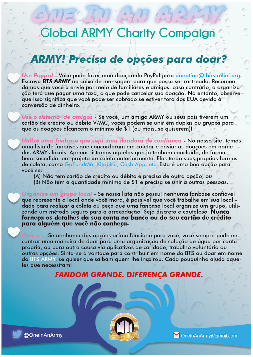 One In An Army⁷ Charity Project On Twitter